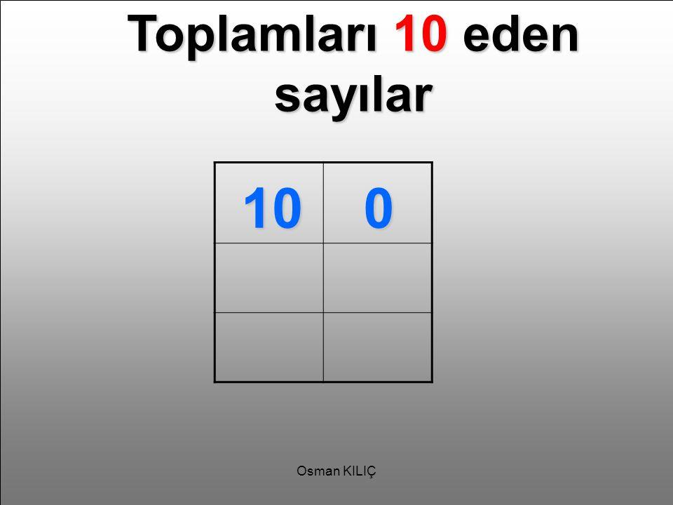 Toplamları 10 eden sayılar