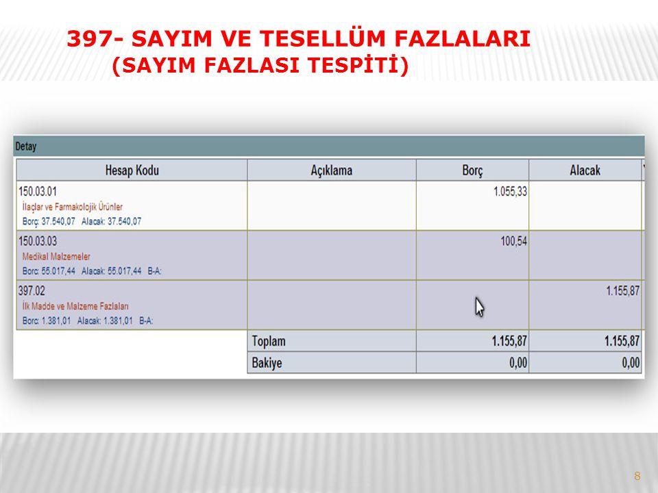 397- SAYIM VE TESELLÜM FAZLALARI