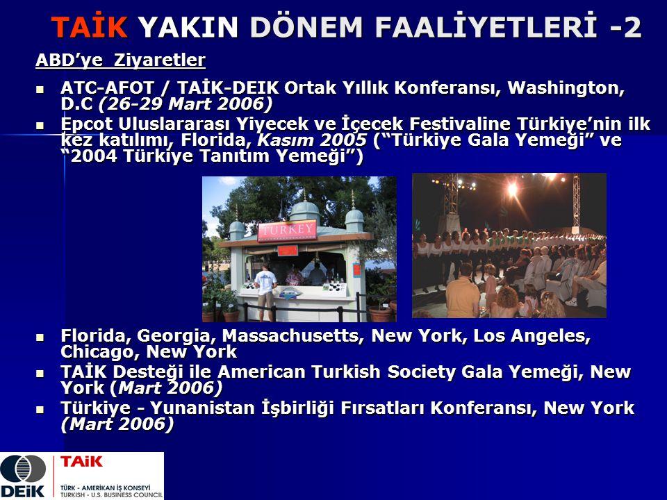 TAİK YAKIN DÖNEM FAALİYETLERİ -2