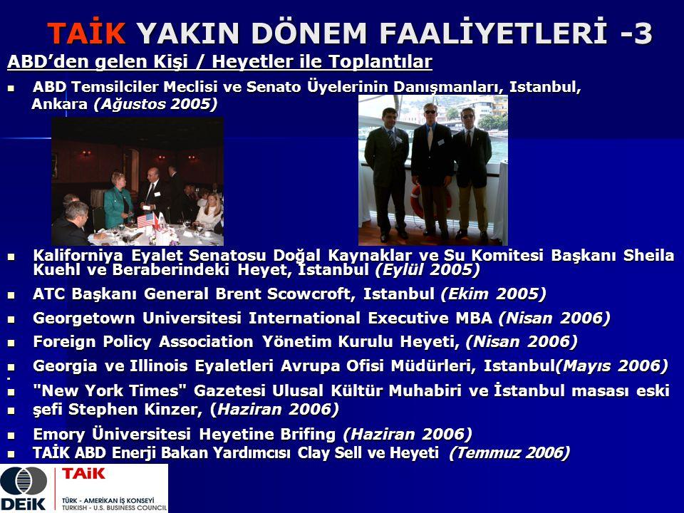 TAİK YAKIN DÖNEM FAALİYETLERİ -3