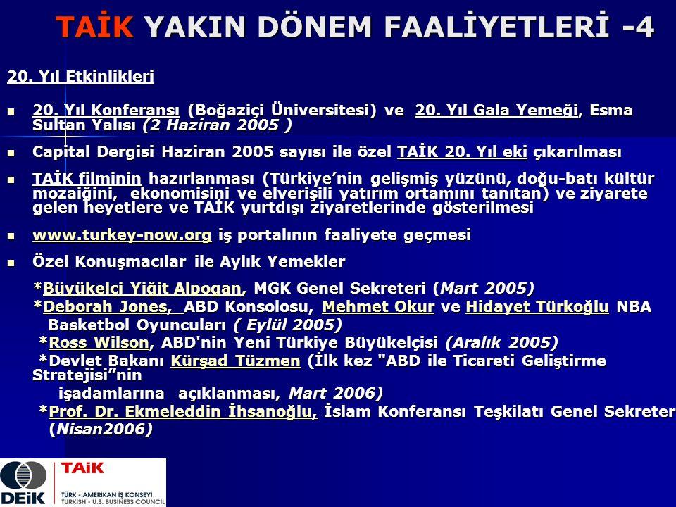 TAİK YAKIN DÖNEM FAALİYETLERİ -4