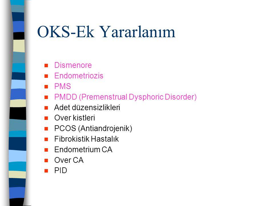 OKS-Ek Yararlanım Dismenore Endometriozis PMS