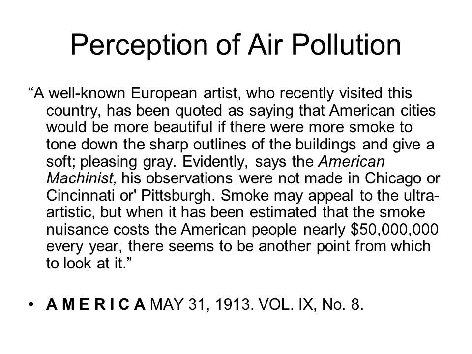 Perception of Air Pollution