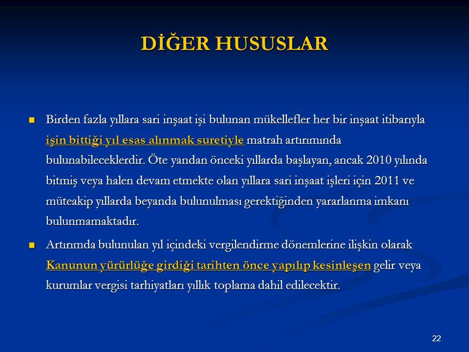 DİĞER HUSUSLAR