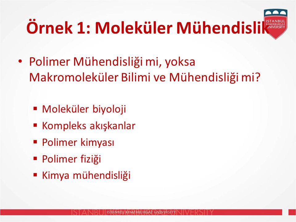 Örnek 1: Moleküler Mühendislik