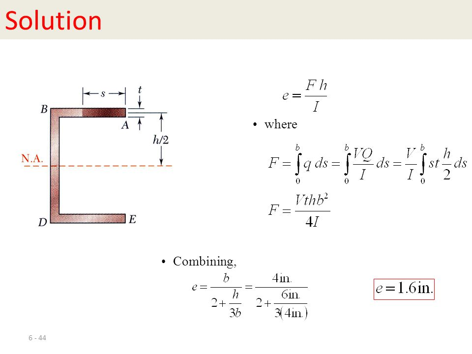 Solution where Combining,