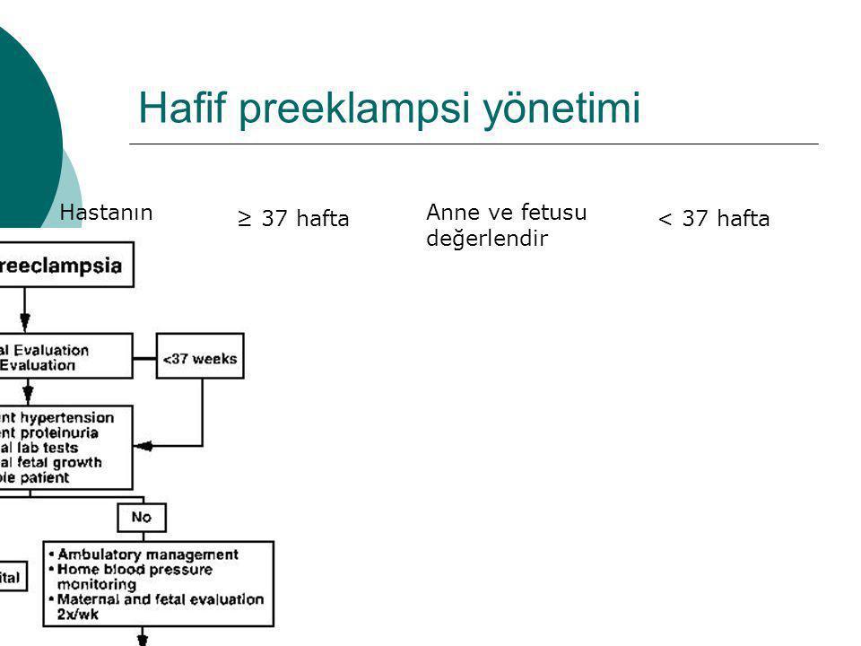 Hafif preeklampsi yönetimi