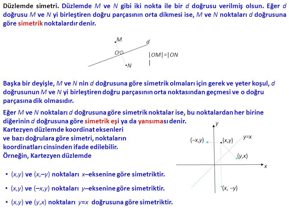 Kartezyen düzlemde koordinat eksenleri