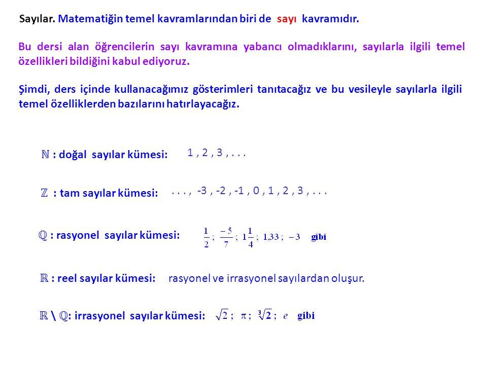 Sayılar. Matematiğin temel kavramlarından biri de sayı kavramıdır.