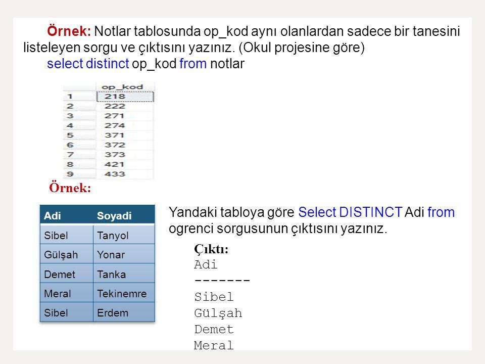 select distinct op_kod from notlar