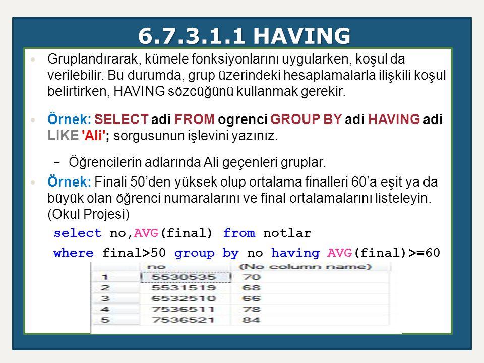 6.7.3.1.1 HAVING