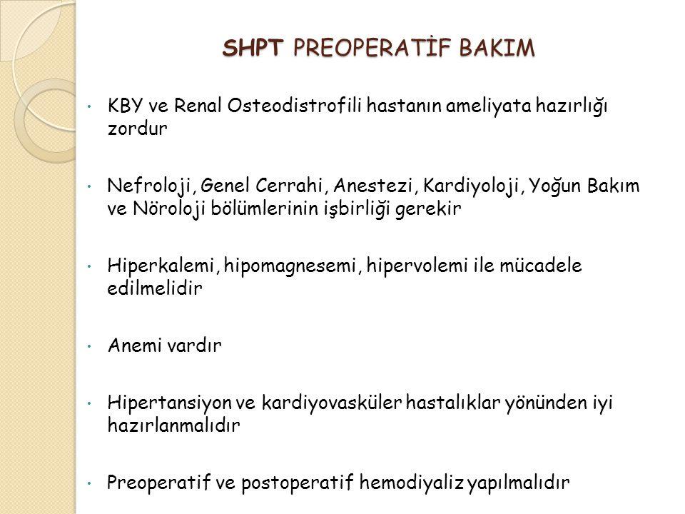 SHPT PREOPERATİF BAKIM