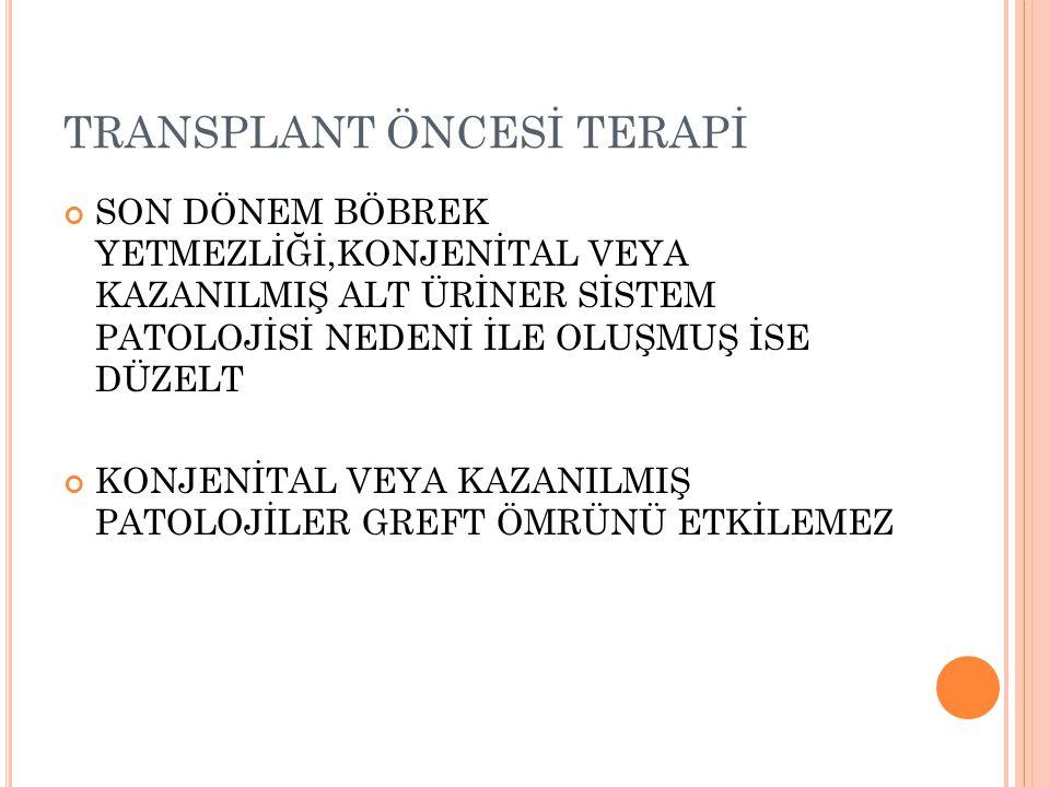 TRANSPLANT ÖNCESİ TERAPİ