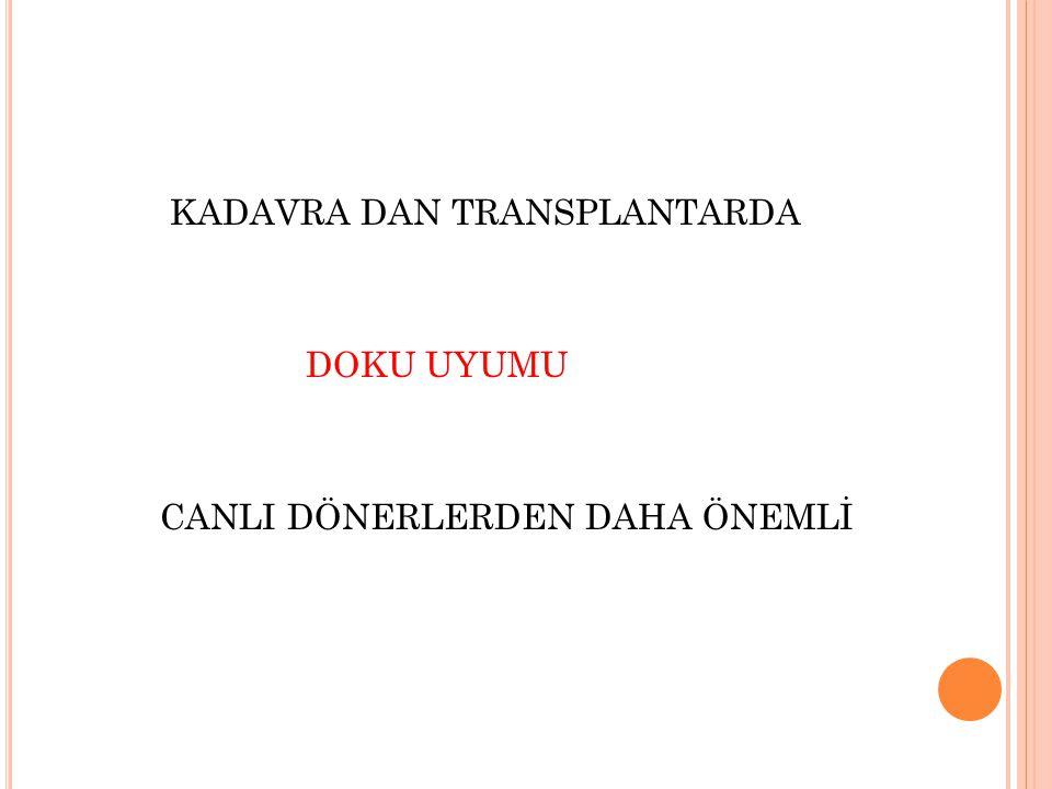 KADAVRA DAN TRANSPLANTARDA