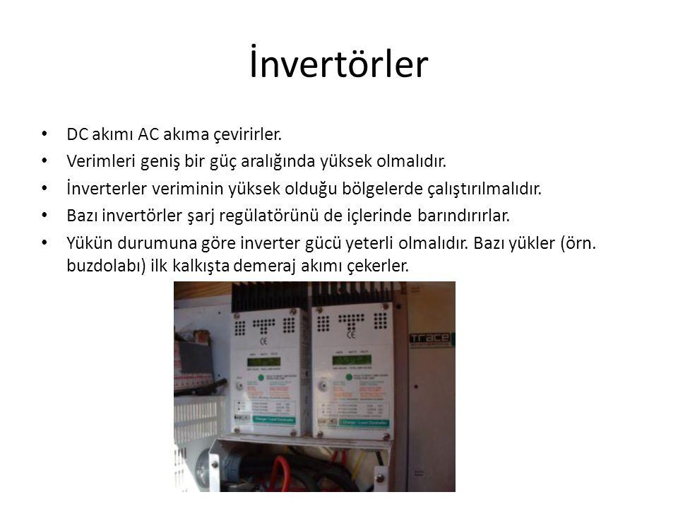 İnvertörler DC akımı AC akıma çevirirler.