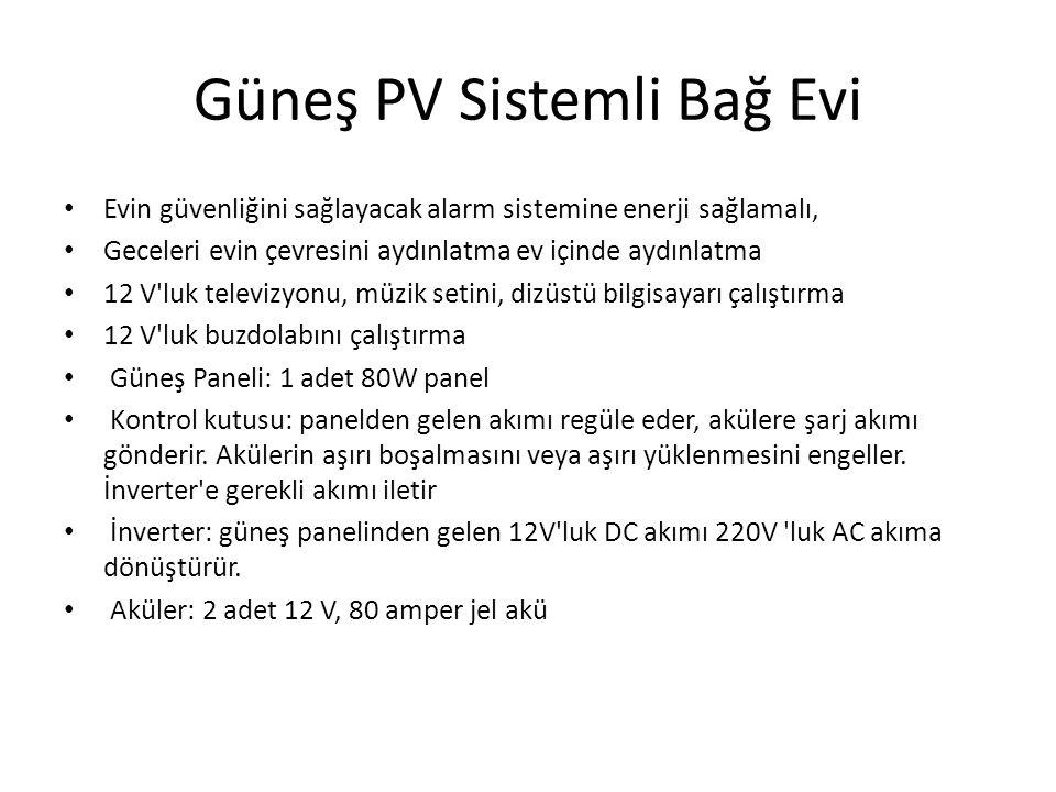Güneş PV Sistemli Bağ Evi