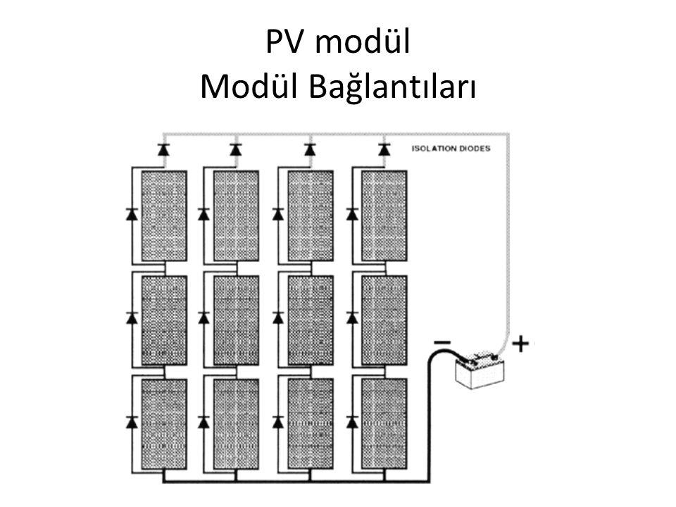 PV modül Modül Bağlantıları