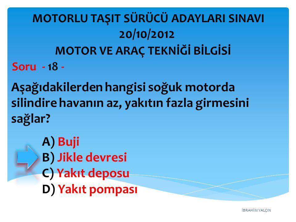 MOTOR VE ARAÇ TEKNİĞİ BİLGİSİ