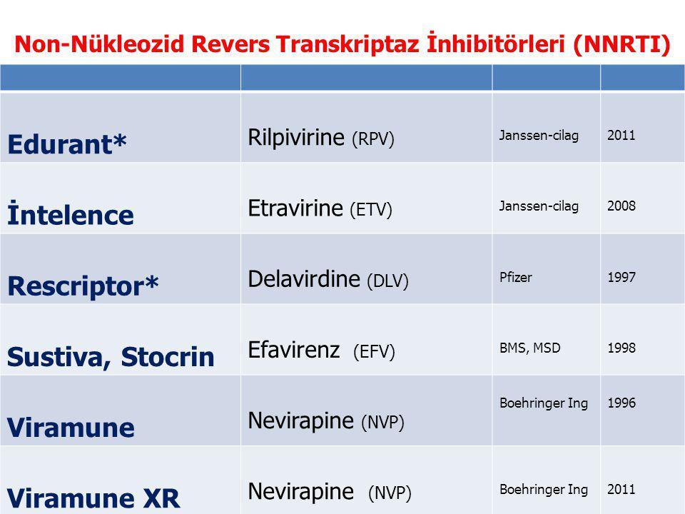 Non-Nükleozid Revers Transkriptaz İnhibitörleri (NNRTI)