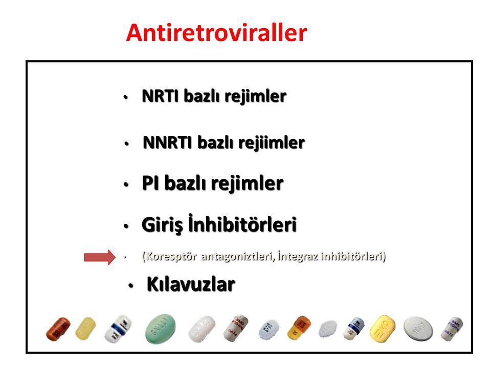 Antiretroviraller PI bazlı rejimler Giriş İnhibitörleri Kılavuzlar