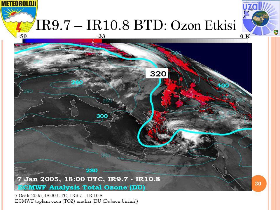 IR9.7 – IR10.8 BTD: Ozon Etkisi Tavsiye edilen aralık ve İyileştirme