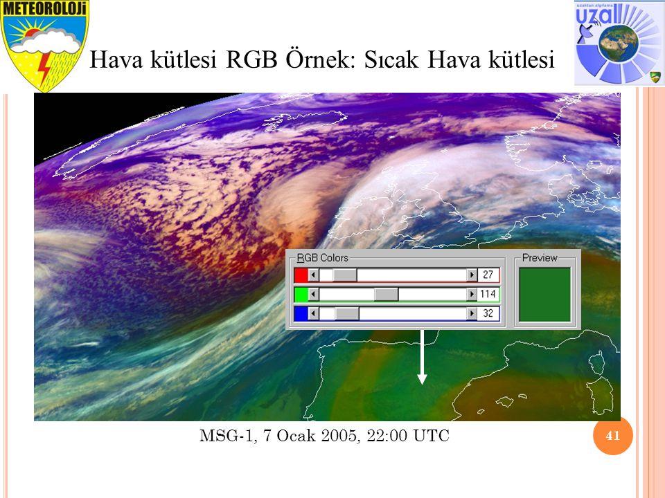 Hava kütlesi RGB Örnek: Sıcak Hava kütlesi