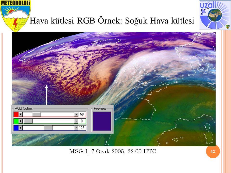 Hava kütlesi RGB Örnek: Soğuk Hava kütlesi