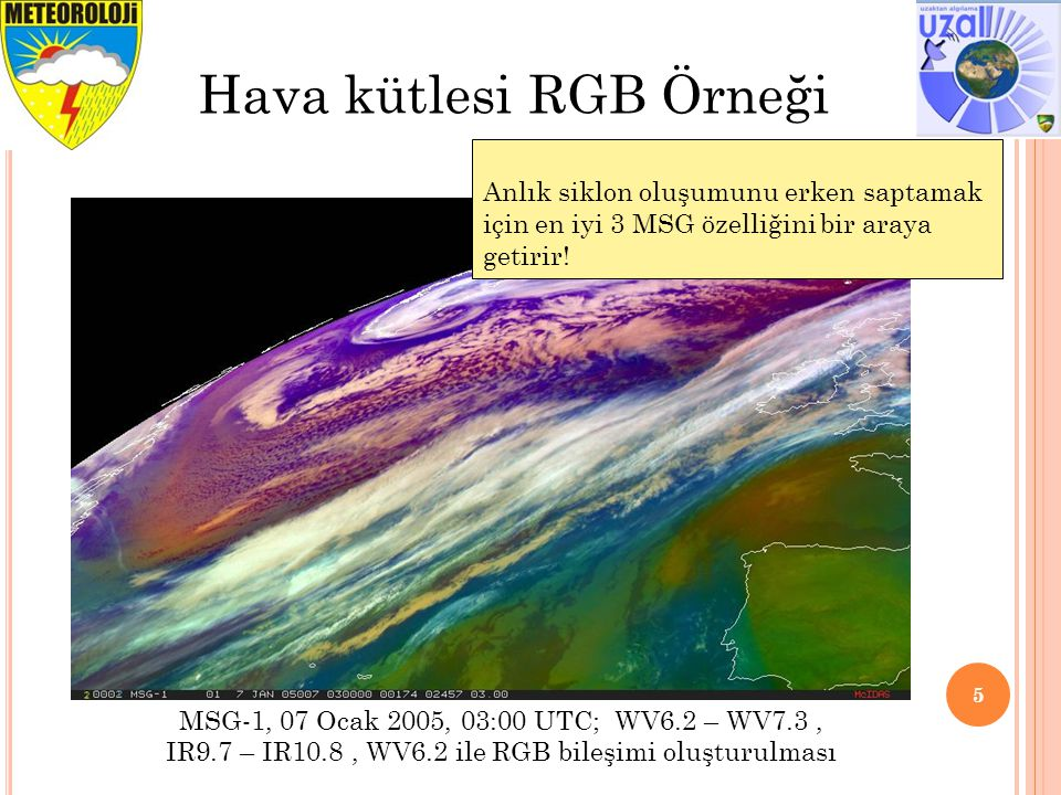 Hava kütlesi RGB Örneği