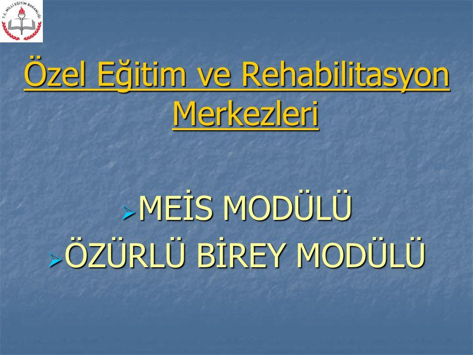 Özel Eğitim ve Rehabilitasyon Merkezleri