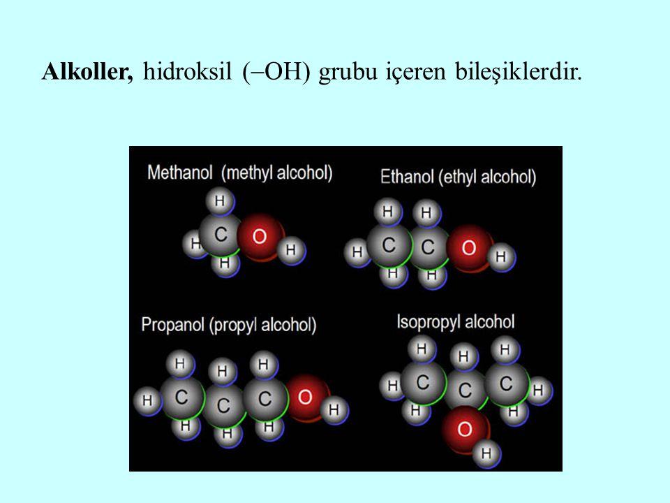 Alkoller, hidroksil (OH) grubu içeren bileşiklerdir.