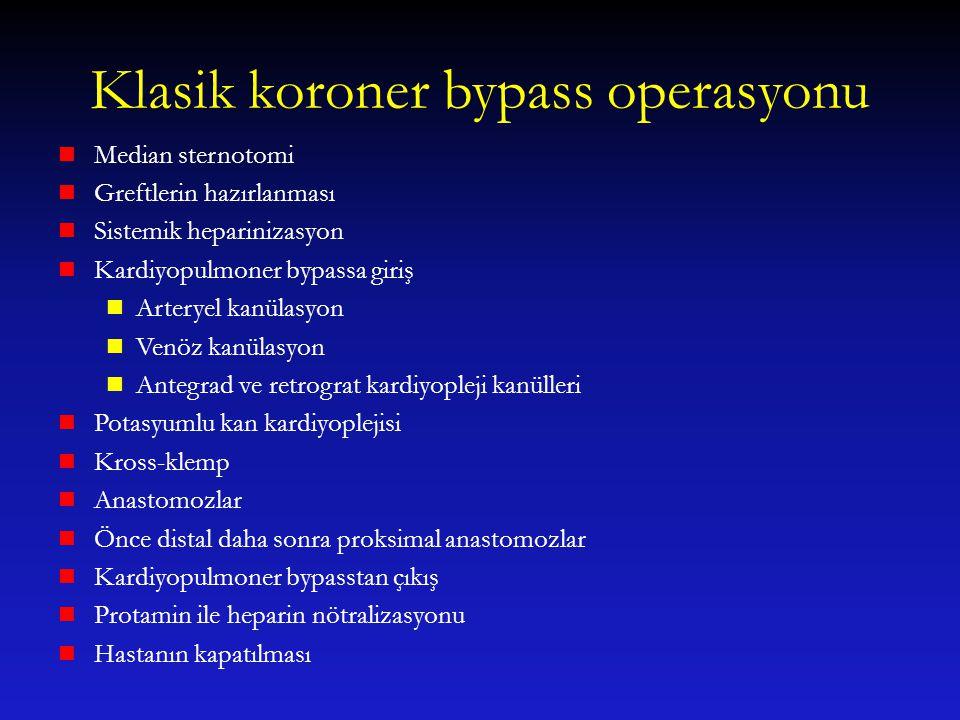 Klasik koroner bypass operasyonu