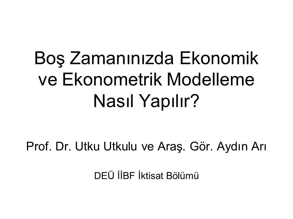 Boş Zamanınızda Ekonomik ve Ekonometrik Modelleme Nasıl Yapılır