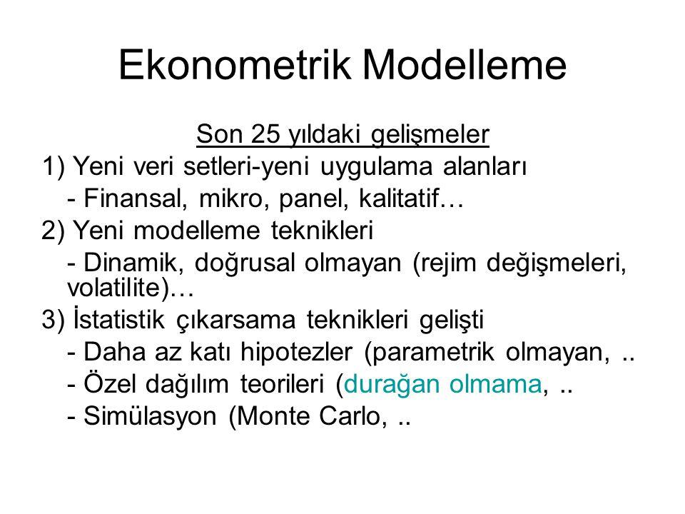 Ekonometrik Modelleme