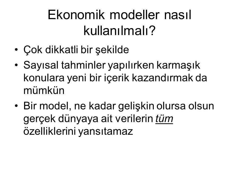 Ekonomik modeller nasıl kullanılmalı