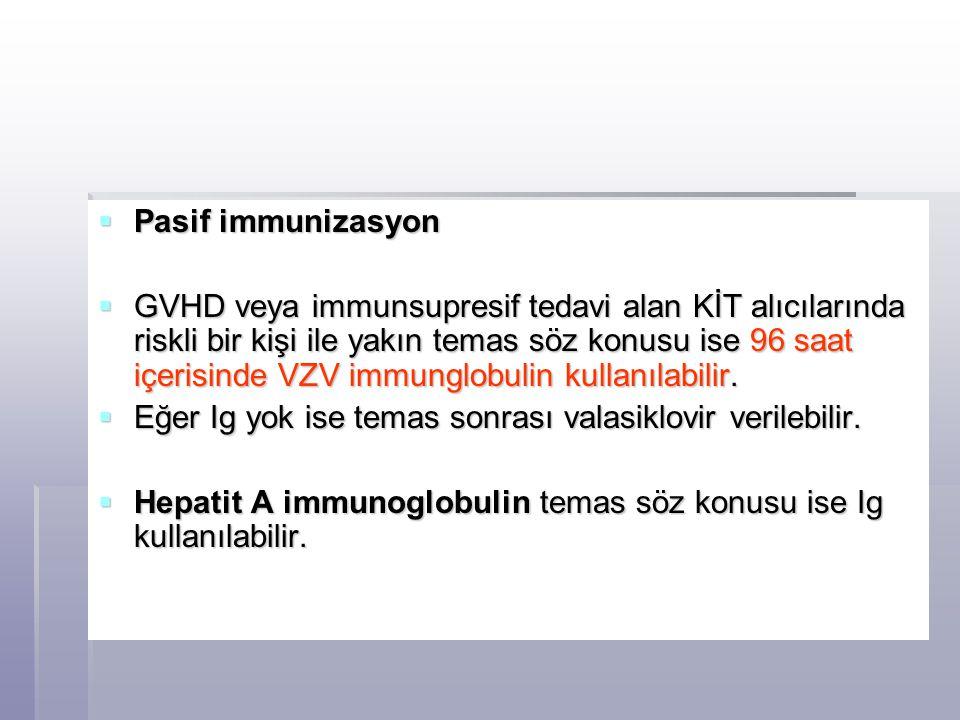 Pasif immunizasyon