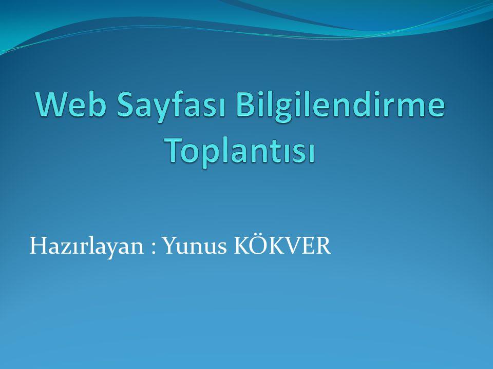 Web Sayfası Bilgilendirme Toplantısı