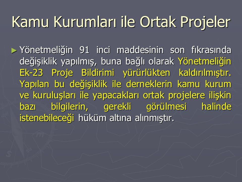 Kamu Kurumları ile Ortak Projeler