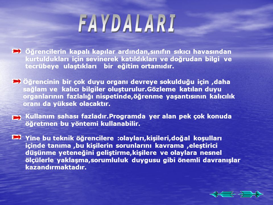 FAYDALARI
