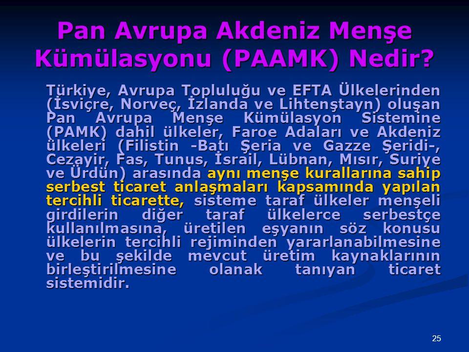 Pan Avrupa Akdeniz Menşe Kümülasyonu (PAAMK) Nedir