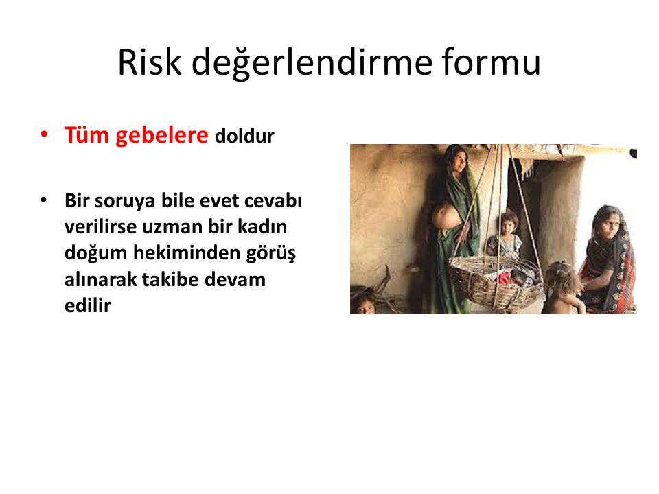Risk değerlendirme formu