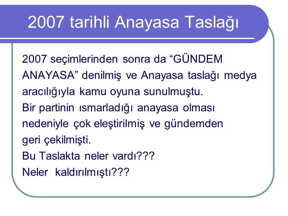 2007 tarihli Anayasa Taslağı