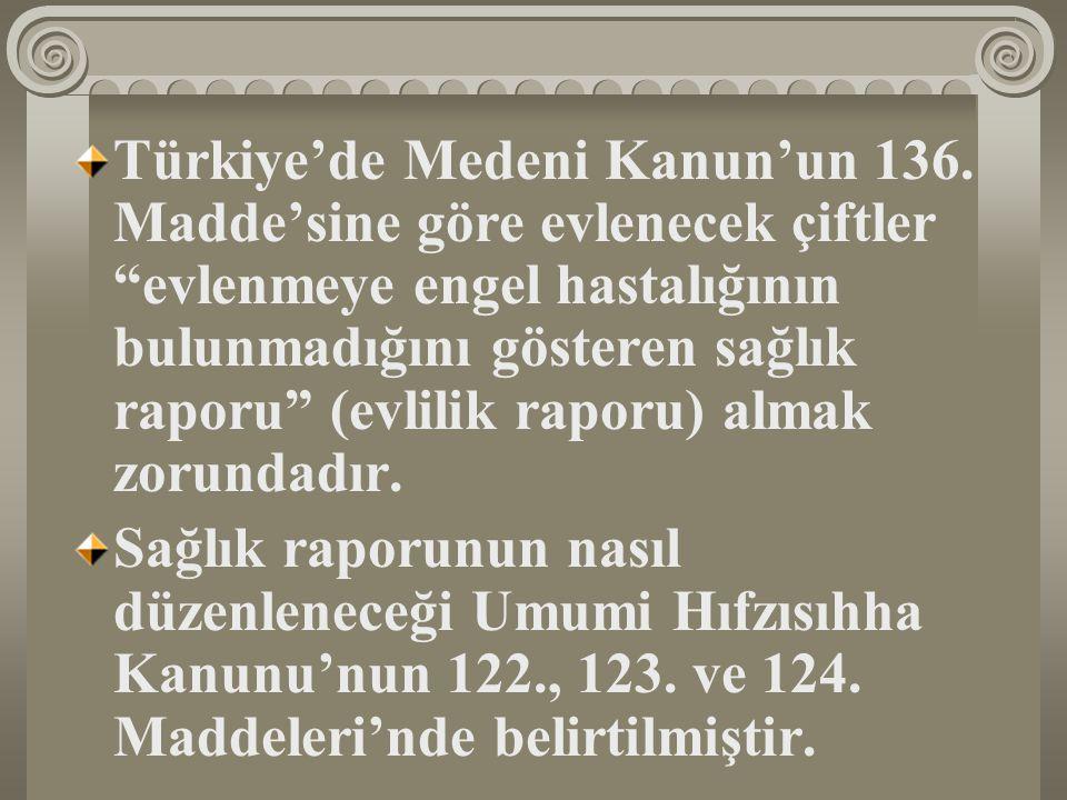 Türkiye'de Medeni Kanun'un 136