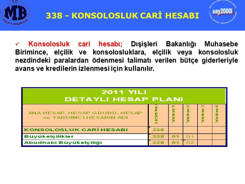 338 - KONSOLOSLUK CARİ HESABI