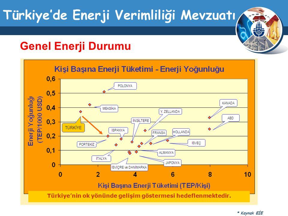 Genel Enerji Durumu * Kaynak EİE