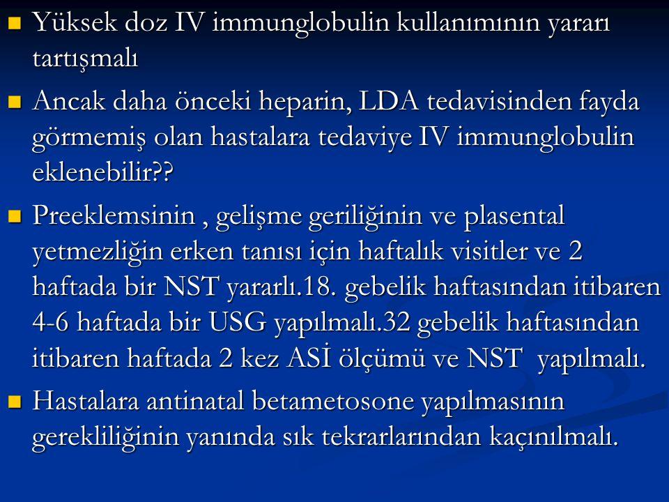 Yüksek doz IV immunglobulin kullanımının yararı tartışmalı