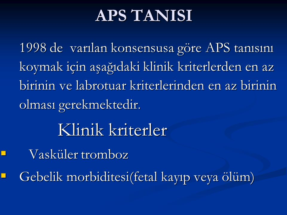 APS TANISI