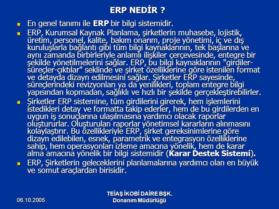 ERP NEDİR En genel tanımı ile ERP bir bilgi sistemidir.