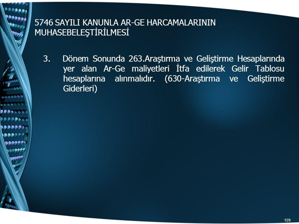 5746 SAYILI KANUNLA AR-GE HARCAMALARININ MUHASEBELEŞTİRİLMESİ