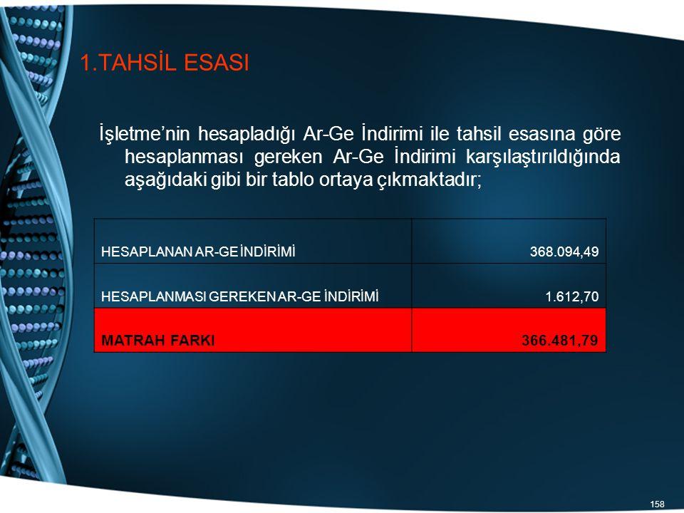 1.TAHSİL ESASI