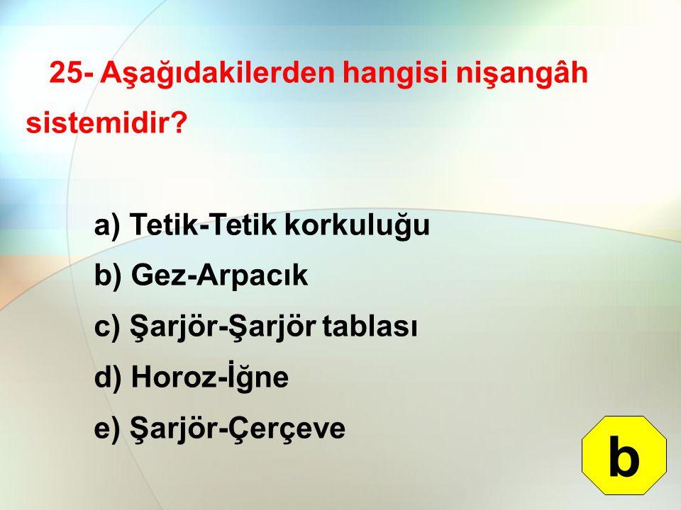 b 25- Aşağıdakilerden hangisi nişangâh sistemidir